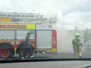 Firies rush to Bunnings car fire, Pacific Hwy crash