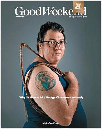 The Good Weekend magazine cover.