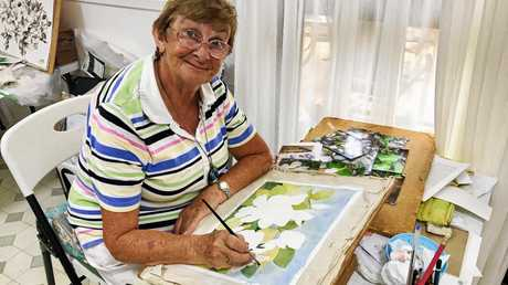 PAINTING QUEEN: Mary Argall has been painting her whole life.