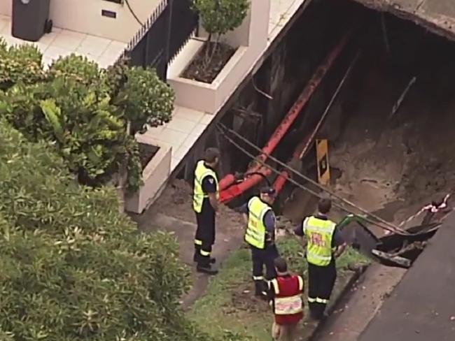 A massive sinkhole has developed in Point Piper.
