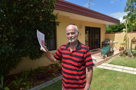 Buderim's Kevin Baston was shocked his insurance bill had gone up 50%, he was told it was because he is in a cyclone area.
