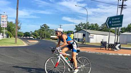 Celia Sullohern during the bike leg at the Hell of the West which doubled as the 2017 Australian Long Course Championships at Goondiwindi on Sunday, 5th February, 2017.