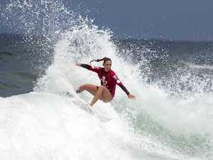 Nicholl stands up in big surf