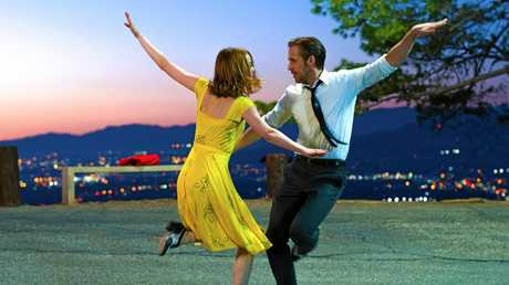 Emma Stone and Ryan Gosling in a scene from the Golden Globe winning movie La La Land.