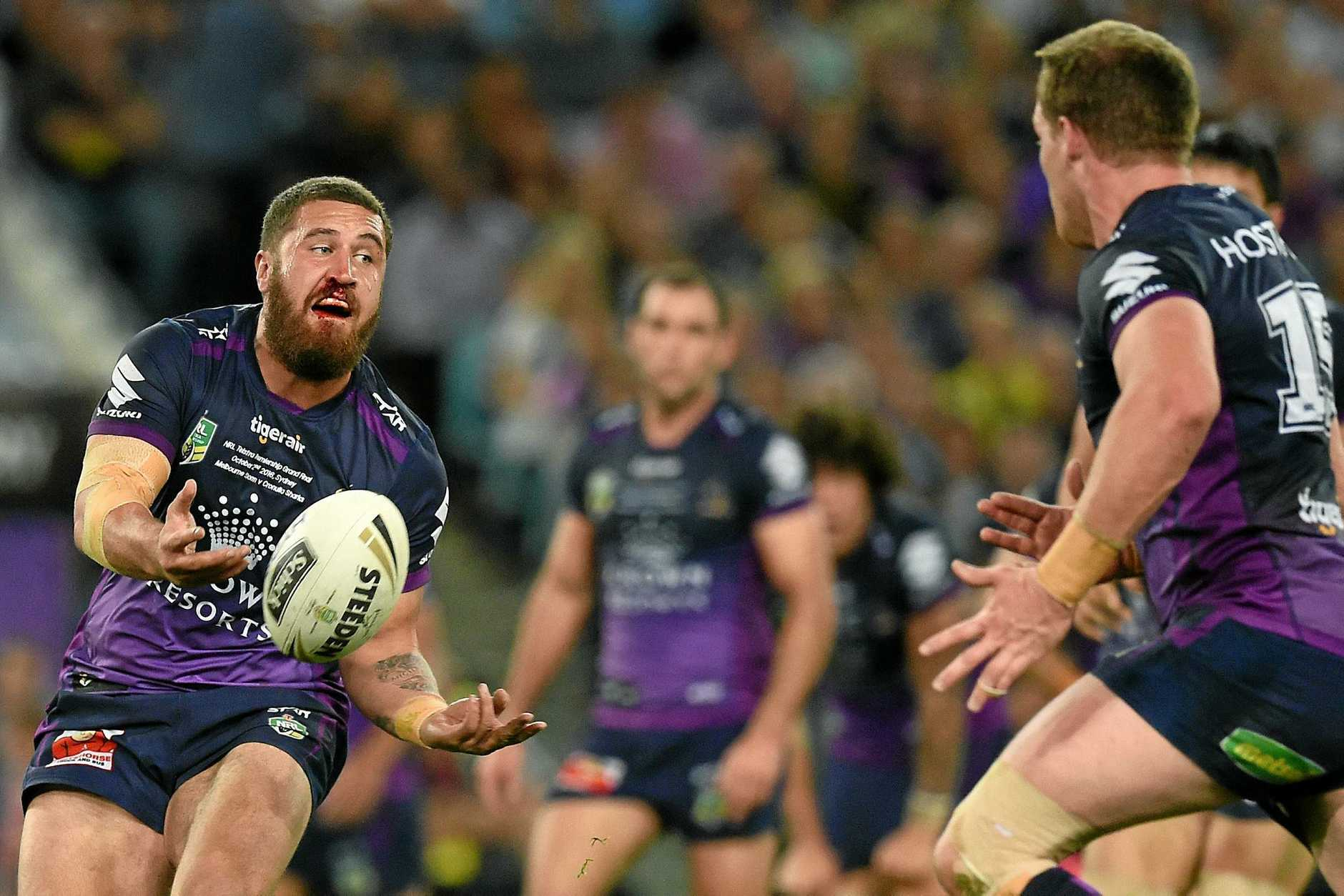 CAPTAIN: Kenny Bromwich will lead the Storm in its NRL trial against the Warriors at Kawana on Saturday. There are hopes Sunshine Coast Stadium will be able to host an NRL, Super Rugby or A-League regular season game in the next few years.