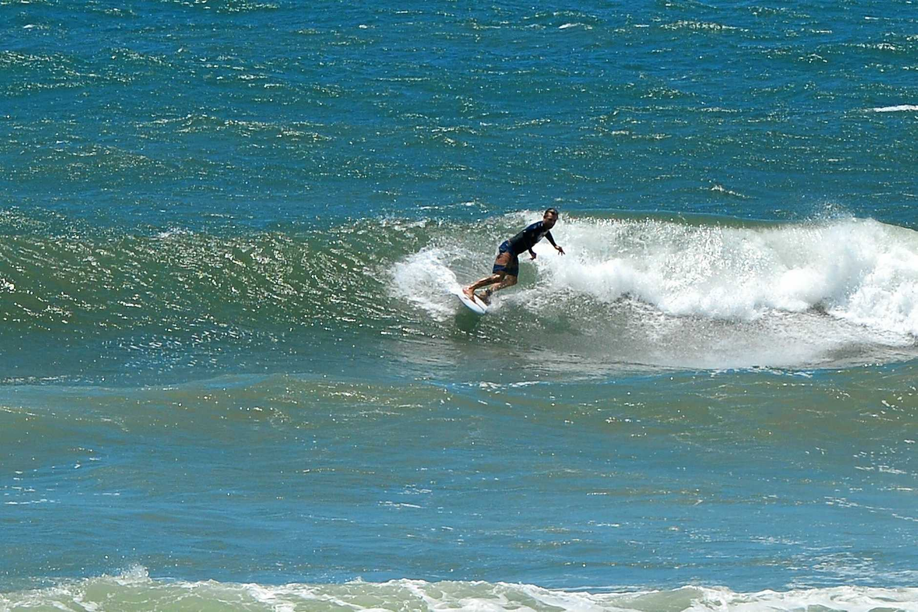 Swell builds at Alexandra Headland on Wednesday.