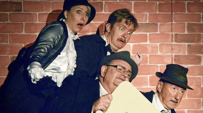 STAGE SHOW: Yeppoon Little Theatre's production of The 39 Steps. Auditions for its next production, The Importance of Being Ernest, will take place this weekend.