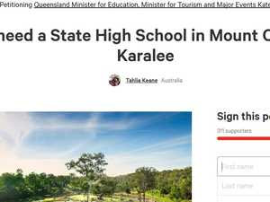 MP joins campaign for new high school
