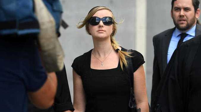 Michelle Leask leaves the Supreme Court in Brisbane, Wednesday, Feb. 8, 2017. Ms Leask pleaded guilty to the manslaughter of her 7 week old daughter Lili Cataldo between April 28 and May 5, 2012.