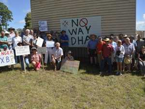 Residents protest DHA plans