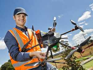 Drone over mini golf