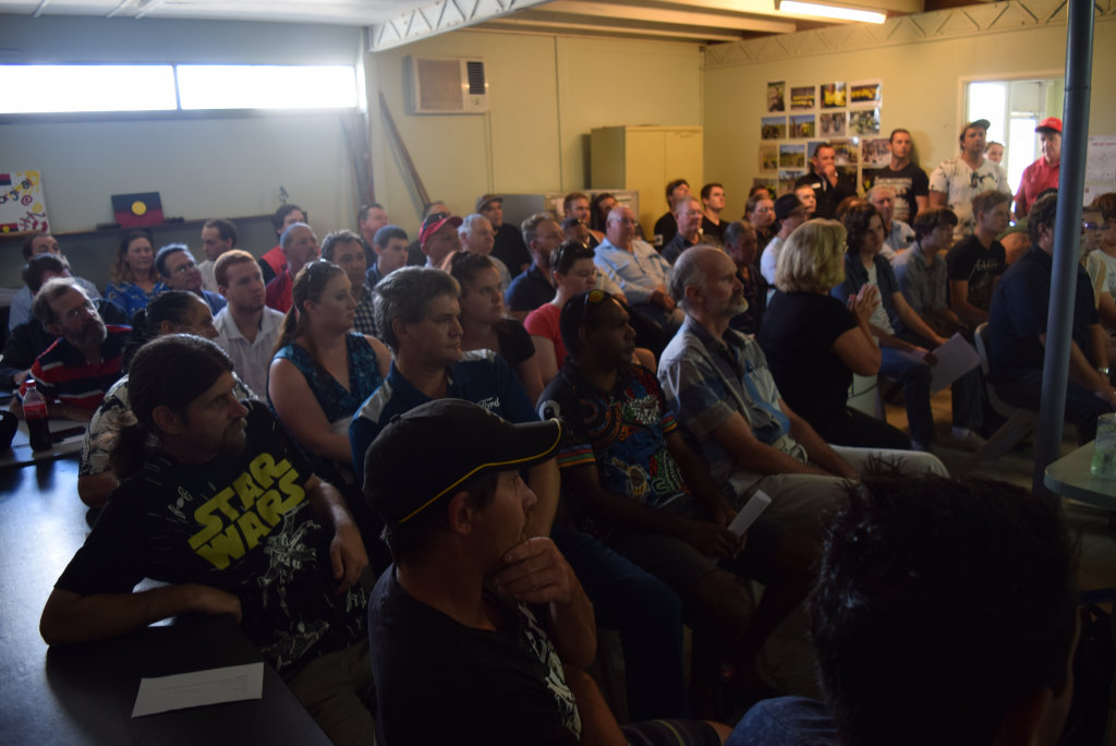 PACKED: About 20 people were expected to attend the solar job session, but 60 attended.