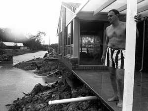 Water washed home out from beneath