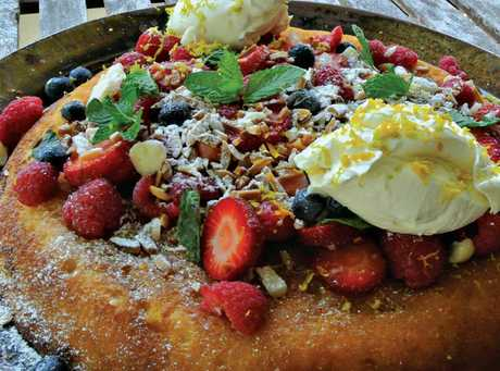 The ricotta hotcake recipe by Matt Sinclair is available in the Weekend magazine.