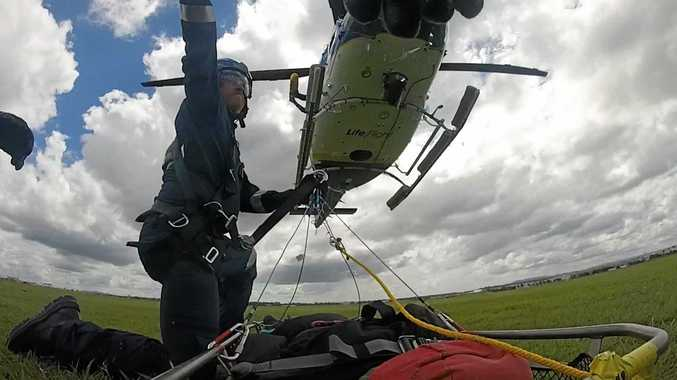 RIGOROUS: Dr Thomas Holland is put through his training before taking his place on the front line of emergency medicine with LifeFlight.
