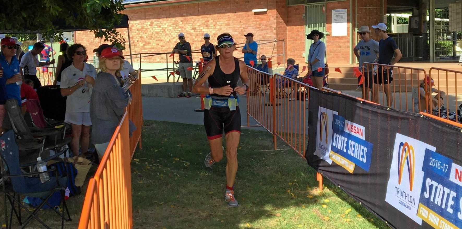 STAR ATHLETE: Dalby woman Bronwyn Henschel placed second at the Hell of the West triathlon in Goondiwindi on the weekend.