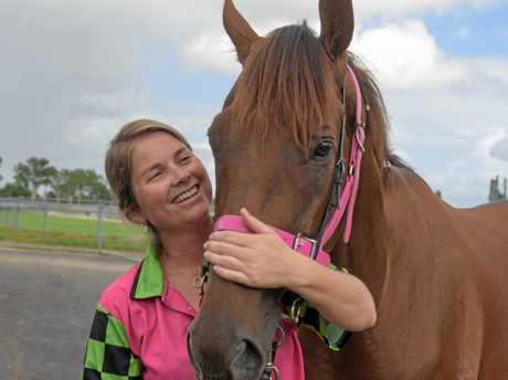 Fleur Blanch with Hotel Drive getting ready for Country Championship day.