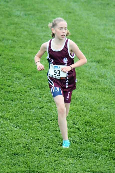 IN HER STRIDE: Cross country runner Chloe Randall.