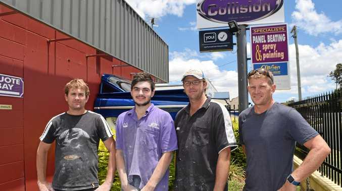 CRASH TEAM: Ryan Filleul, Jake Reid, Grant Simpson and Jamie Reid from Mid City.