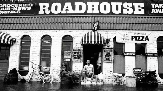 WATERLOGGED: Danny Arnott, proprietor of the Pacific Paradise Roadhouse, contemplates the floods from the