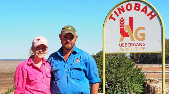 BLOOMING BUSINESS: Darling Downs local cotton grower of the year Ross Uebergang and his wife Ingrid at their Chinchilla family farm.