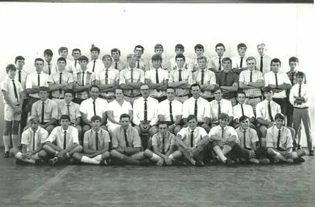 Longreach Pastoral College foundation students in 1967.