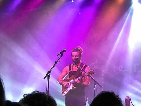 Xavier Rudd on stage at Red Devil Park, Byron Bay, February 4, 2017.