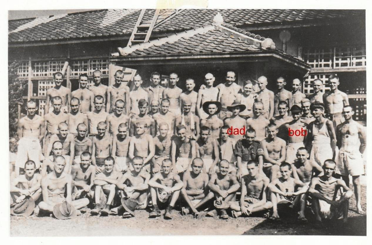 PRISONERS OF WAR: Sunshine Coast resident Jack Chapman (marked as dad) and his brother Bob Chapman were prisoners of war during the Second World War.