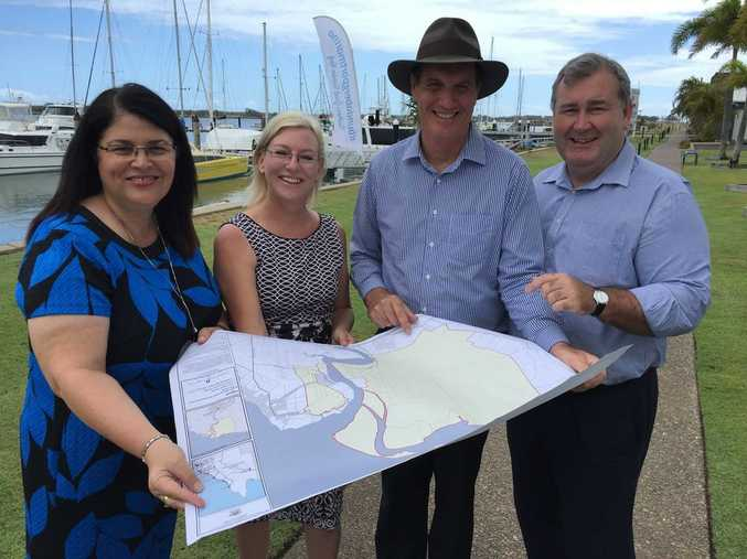 Minister Grace Grace with Leanne Donaldson, Jack Dempsey and State Development Minister Dr Anthony Lynham.