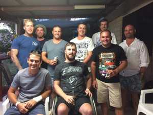 Amazing mates' backyard blitz for severely injured friend
