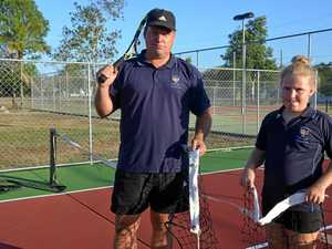 Vandals destroy tennis nets