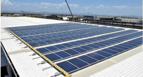 Solar panels at Werner's Engineering.