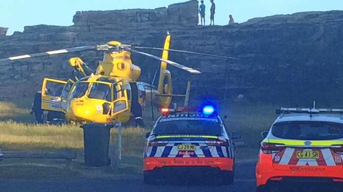 Westpac Helicopter at Turners Beach, Yamba on Friday, February 10 at around 6.30pm.