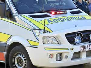 Bus and cyclist collide, elderly man taken to hospital