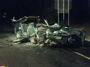 Three children injured in late-night two-vehicle crash