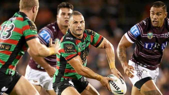Robbie Farah in action for the Rabbitohs