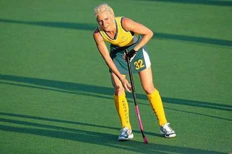 HOCKEY STAR: Nikki Hudson plays for the Hockeyroos during her illustrious international career.