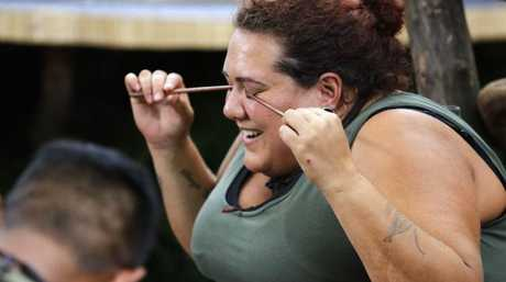 Casey takes a little pain in a tucker trail on I'm A Celebrity ... Get Me Out of Here!