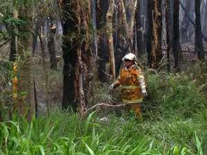 WATCH: Firefighters on the Lennox Head fire scene