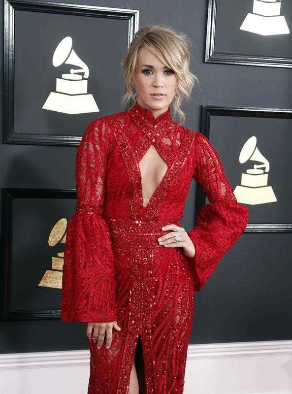 Carrie Underwood arrives for the 59th annual Grammy Awards ceremony at the Staples Center in Los Angeles, California, USA, 12 February 2017.