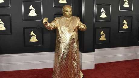 CeeLo Green as his alter ego Gnarly Davidson arrives at the 59th annual Grammy Awards at the Staples Center on Sunday, Feb. 12, 2017, in Los Angeles.