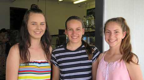 Nicole Tarlington (left) with Rachel Bellis and Grace Crow.
