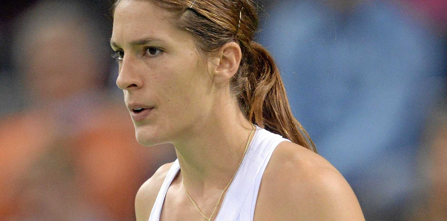 Germany's Andrea Petkovic was upset after American officials played the wrong national anthem.