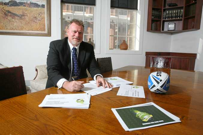 NOT ON MY WATCH: Western Corridor NRL bid chairman Steve Johnson overlooking documents for the bid, documents which refer to a home grown team and not a relocated Knights or any other NRL club.