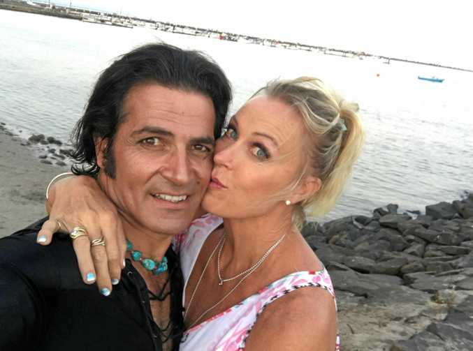 LOVERS SEPARATED: Lisa Curry, 54, who is living in a South African jungle camp as a contestant of I'm A Celebrity... Get Me Out Of Here, is engaged to entertainer and Elvis impersonator Mark Tabone.
