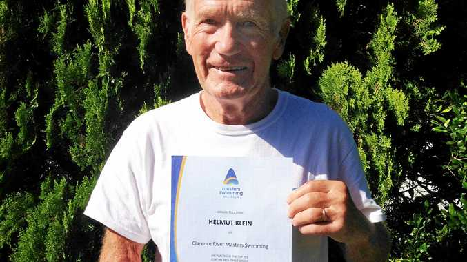TOP TEN: Angourie's Helmut Klein placed 4th in the 2016 Masters Swim Series overall pointscore for the male 75 to 79 age group.