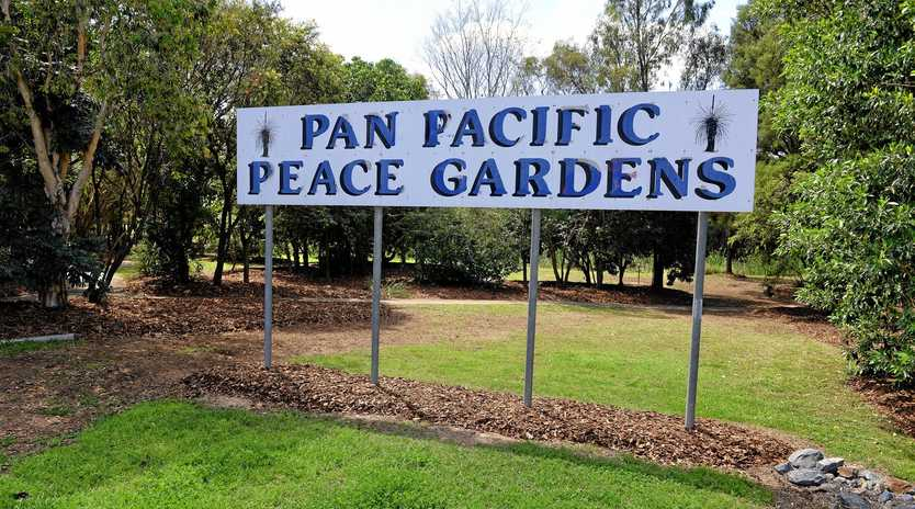 STARKERS: Men continue to get nude and rude in the Pan Pacific Peace Gardens in Redbank.