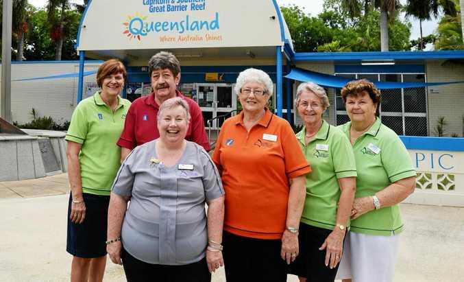 Visitor Information Centre volunteers Sheryl, Allan, Michelle, Joy, Sandra and Del.