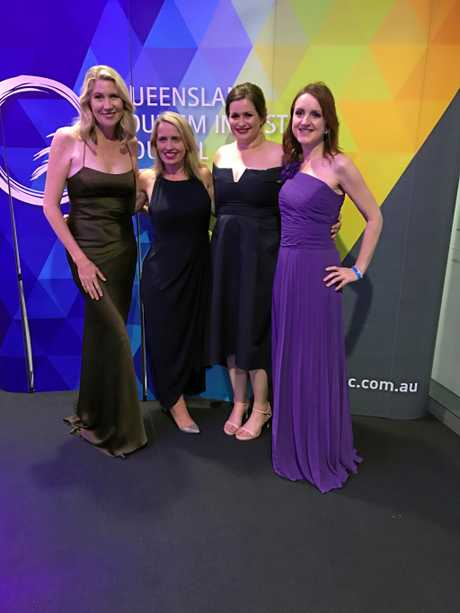 L2R: Capricorn Enterprise CEO Mary Carroll, Minister for Tourism the Hon Kate Jones, Capricorn Enterprise Marketing team Deanne Bowd and Emily Szilveszter. The Southern Great Barrier Reef Destination marketing submission, prepared by Capricorn Enterprise won Bronze at the Queensland Tourism Awards last year.