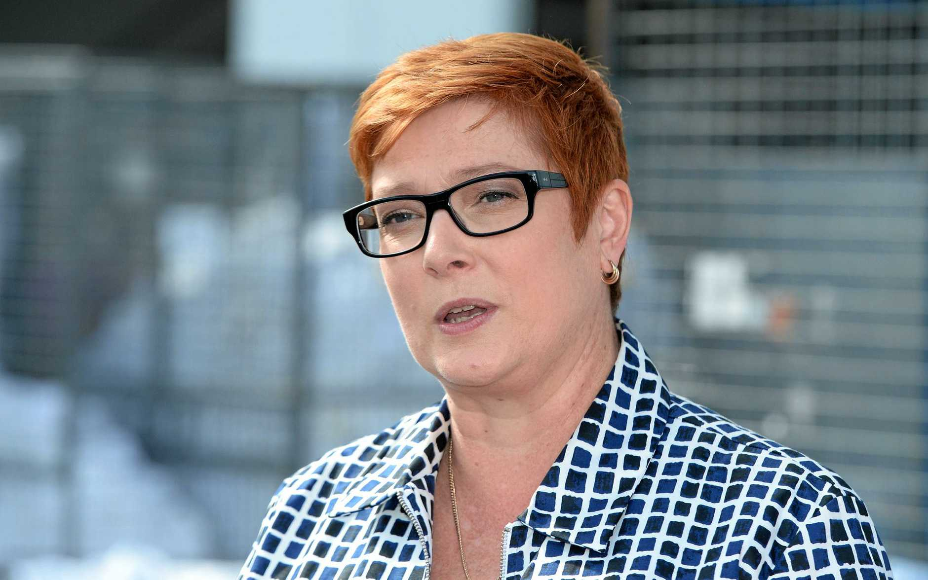 Minister for Defence, Marise Payne in Rockhampton to visit Queensland Linen Service which is likely to benefit from increased military training in at Shoalwater Bay by the Singapore Defence Force.     Photo: Chris Ison / The Morning Bulletin